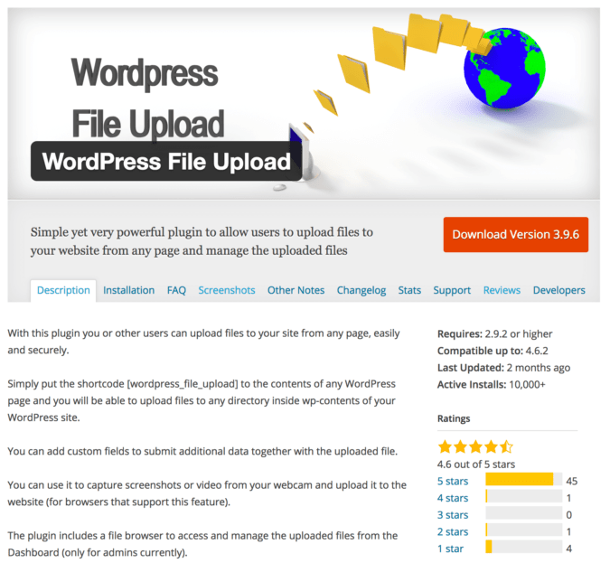 WordPress File Upload plugin